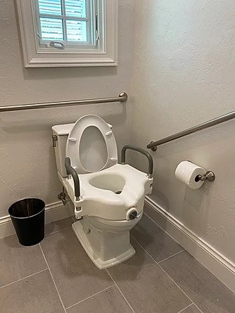 Toilet seat height can be modified