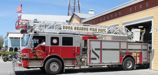 Boca Grande has it's own Police and fire departments eight blocks away from the PhantaSea Home!